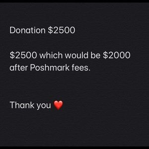Other - Donation $2500